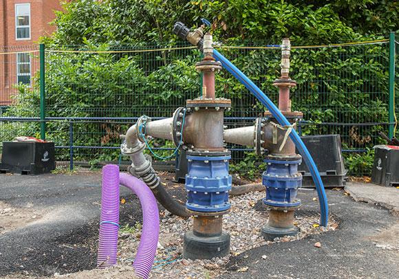 3MW water source heat pump at Castle Park Energy Centre site