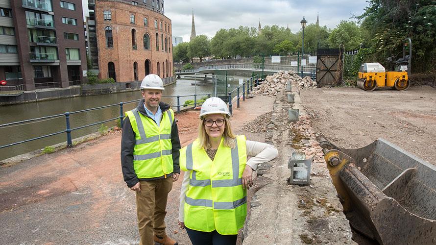 Cllr. Nicola Beech and Stephen Baker visit the Castle Park Energy Centre site